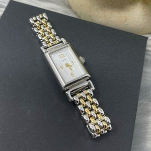 Coach Braided Stainless Gold Silver Bracelet Watch